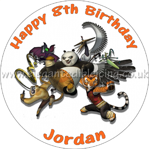 KUNG FU PANDA PERSONALISED EDIBLE PARTY CAKE TOPPER